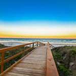 easy beach access at Beacher's Lodge