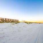 white soft sand of Crescent Beach