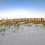 Nestled in the sand dunes of Crescent Beach