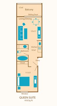 Queen Suite Floor Plan