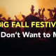 Fall Festivals in St. Augustine